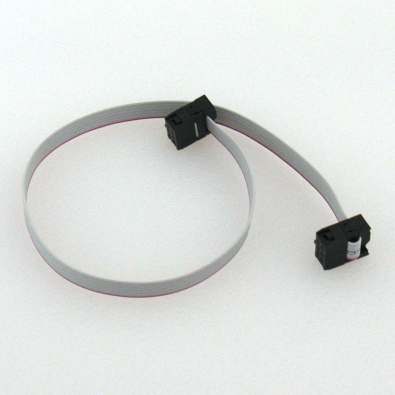 2x3 (6-pin) IDC Connector Flat Ribbon Cable, 1ft - Click Image to Close