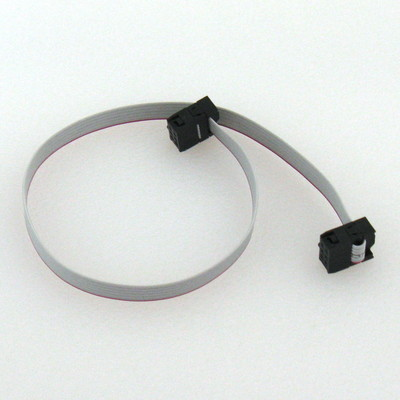2x3 (6-pin) IDC Connector Flat Ribbon Cable, 1ft